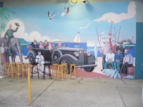 cruise ship terminal mural