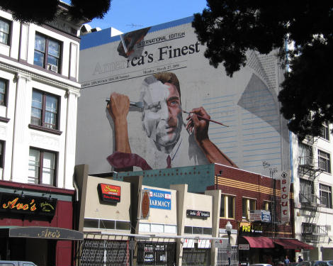 America's Finest City newspaper mural