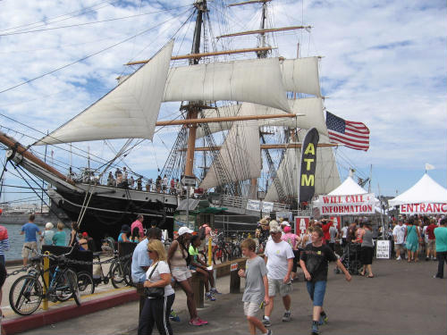 big crowd at festival of sail