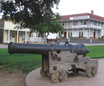 cannon in san diego's old town plaza