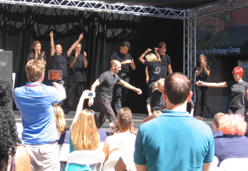 dancing at san diego entrepreneur day