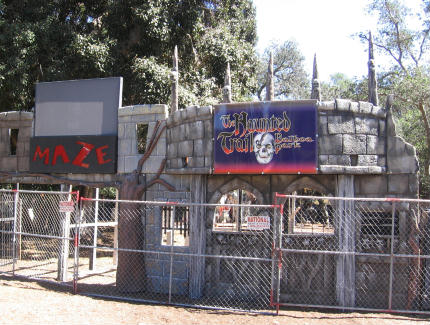 future entrance to the haunted trail