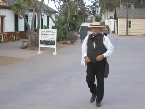 ghost from history walks through old town