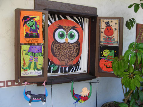 halloween art on display at seaport village
