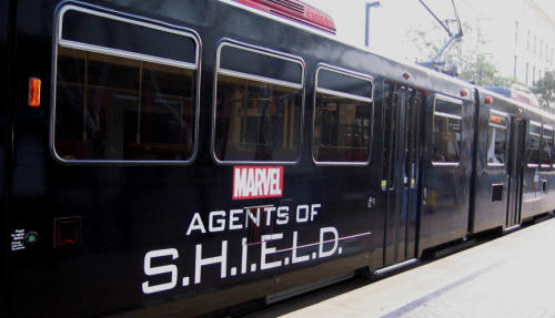 marvel agents of s.h.i.e.l.d. comic-con trolley