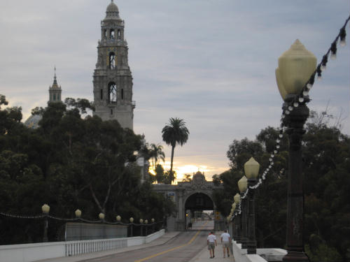 morning walk into balboa park