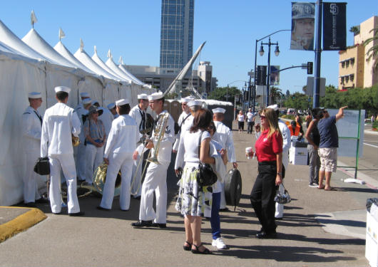 navy band arrives for new library dedication