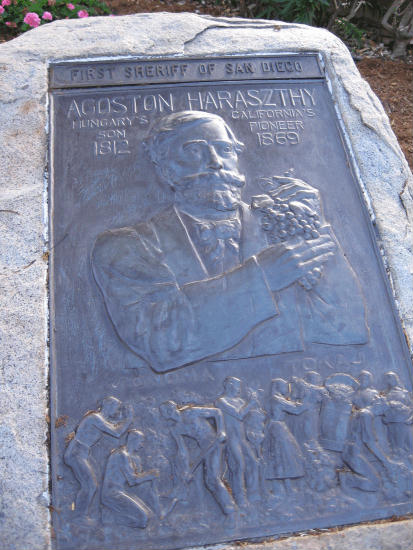 plaque of san diego's first sheriff