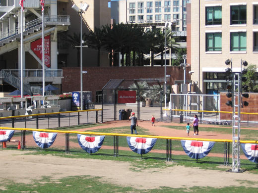 small kids baseball field at petco park