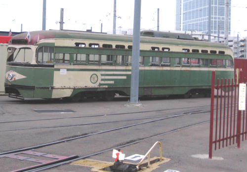 unrestored vintage silver line trolley