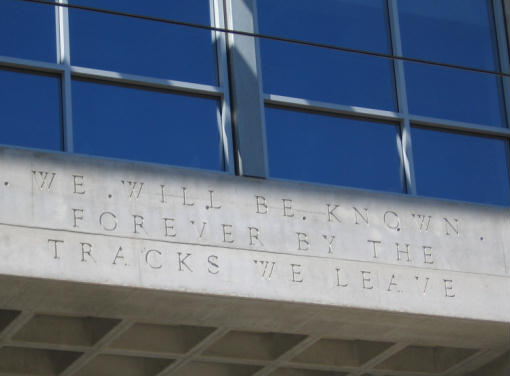 wise words on exterior of san diego library