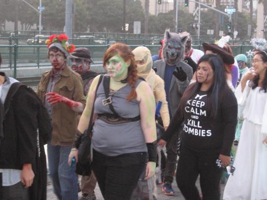 zombie walk included a werewolf