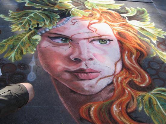 a fantastic face of chalk at festa festival