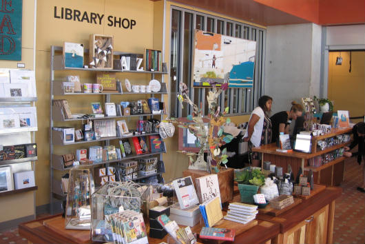 a look inside the new san diego central library shop