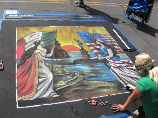 amazing little italy festa chalk art
