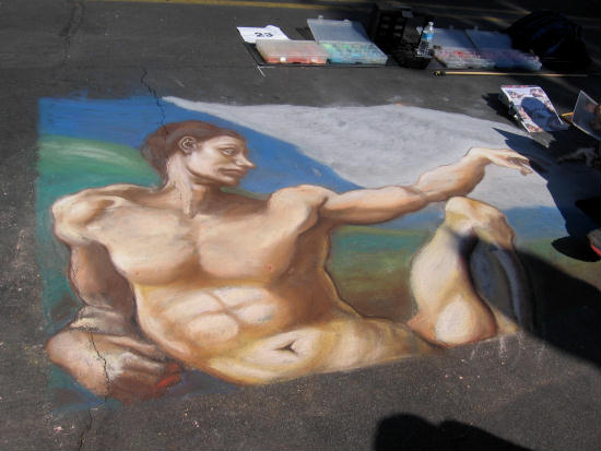 classic figure and italian chalk art