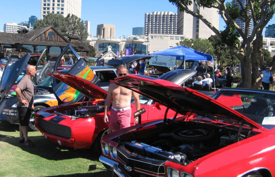 cool car fanatics at mustangs by the bay