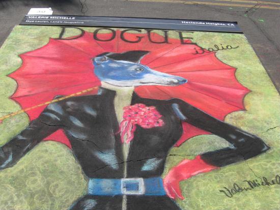 dogue italia colorful chalk art at festa