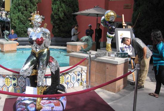 festa artwork around little italy fountain
