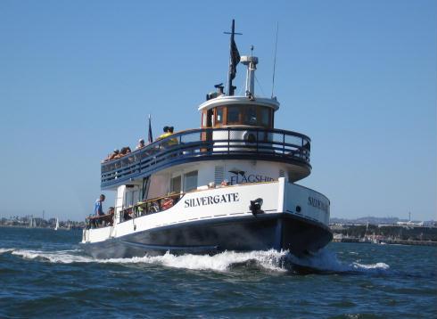 flagship's silvergate ferry on san diego bay