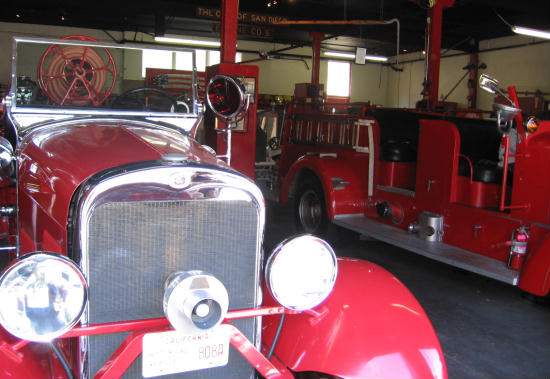 old firetrucks in san diego firehouse museum