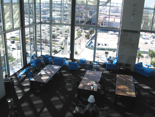 reading room of san diego central library offers city views