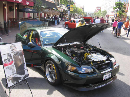 steve mcqueen's bullitt car in gaslamp