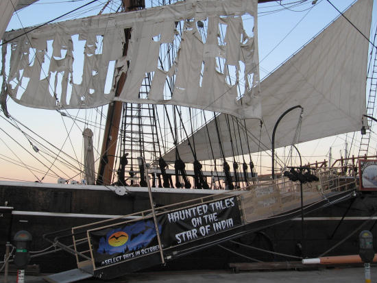 tattered sails of the haunted star of india