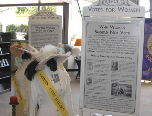 votes for women exhibit at san diego central library