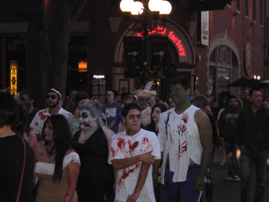 zombies pass spaghetti factory seeking something tastier