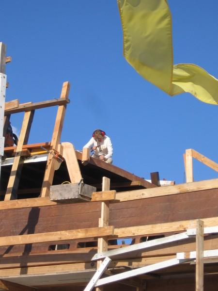 03 Maritime Museum volunteer works on San Salvador ship.