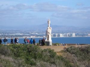 06 Distant view of Cabrillo statue and Coronado Island.