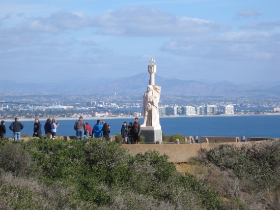 06 Distant view of Cabrillo statue and Coronado Island.
