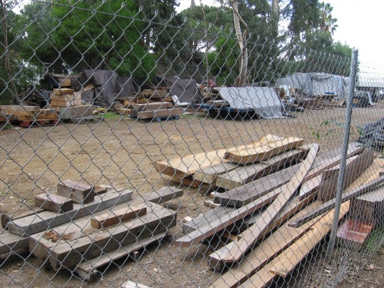 08 Scraps of wood used to build replica of Cabrillo's historic ship.
