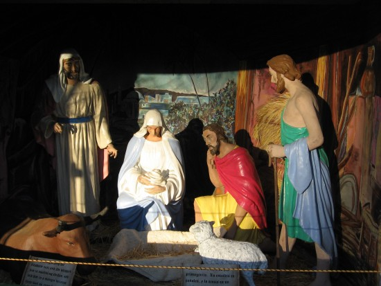 One nativity scene in the large creche at the Spreckels Organ Pavilion.