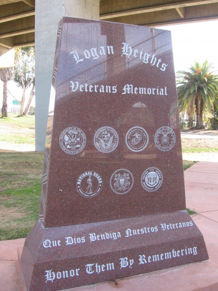 A monument to the sacrifices of Hispanic veterans.