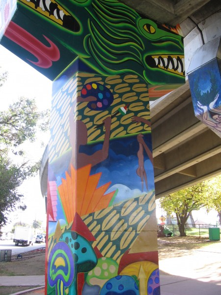 12 Primitive and abstract forms are plentiful in Chicano Park.