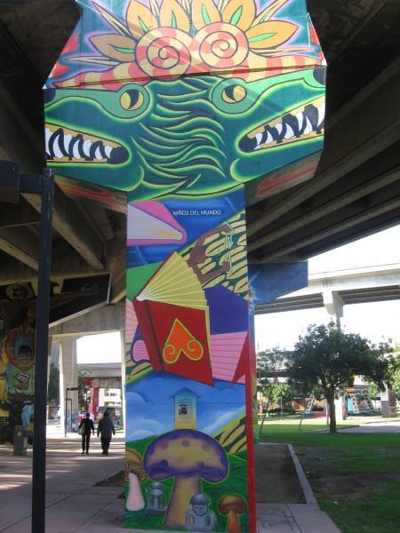 15 One of dozens of painted murals in San Diego's Chicano Park.