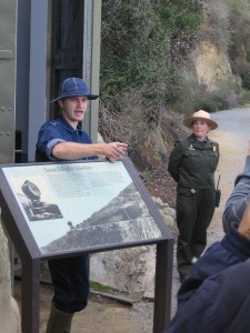 22 Talking about a spotlight that protected San Diego Bay during World War II.