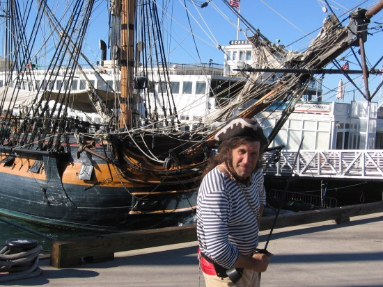 Captain Swordfish readies to engage in pirate mischief.