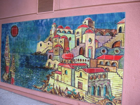 Colorful art on a downtown San Diego street.