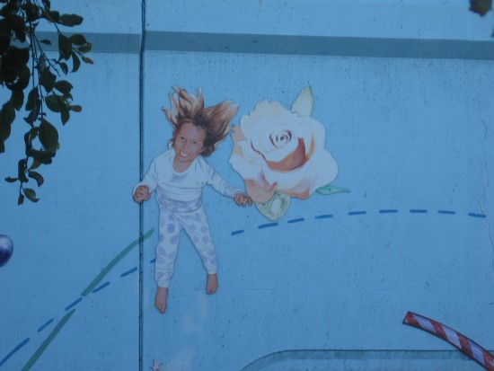 Little girl is a delightful image in public art.