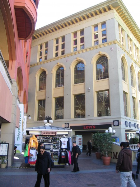 Near the north entrance of Horton Plaza.