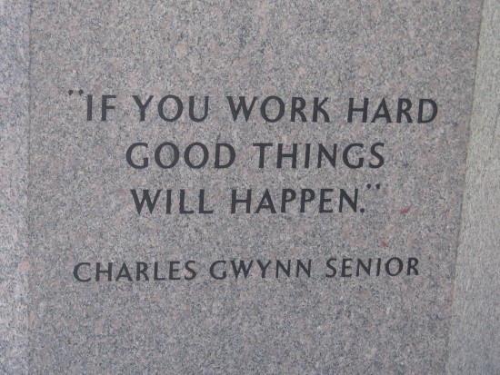 Inspirational words of Tony Gwynn's father.