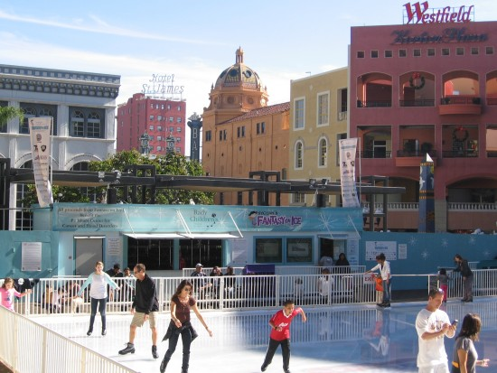 skaters live a fantasy on ice at horton plaza