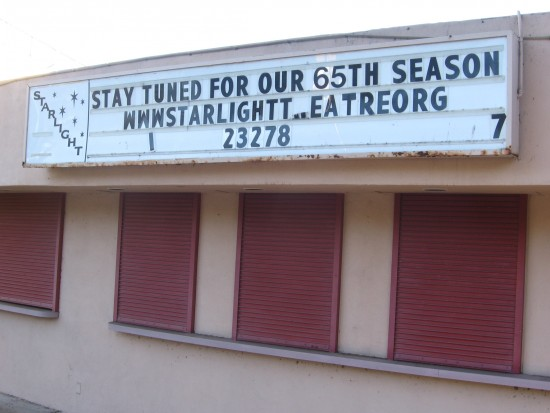 Starlight Bowl sign and the season that never came.