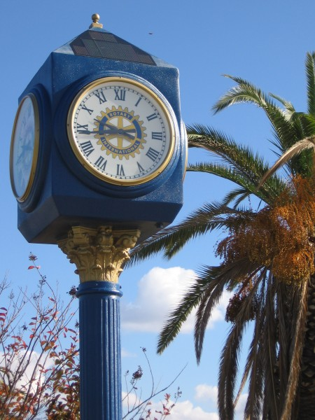 UFO spotted above Rotary clock at Liberty Station.