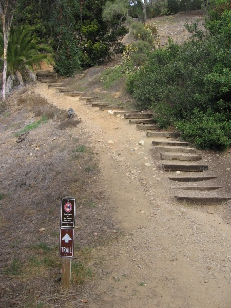 Old Presidio Historic Trail leads up hill from Old Town.