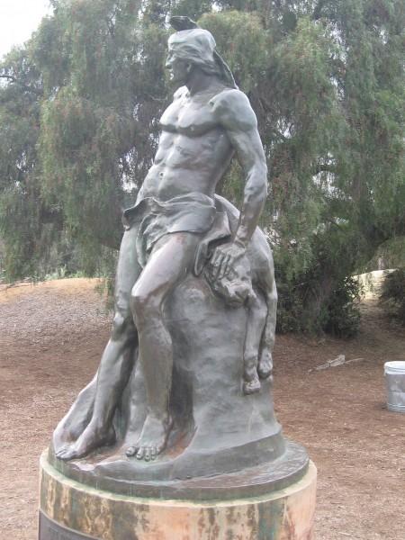 The Indian sculpture by Arthur Putnam in Presidio Park.