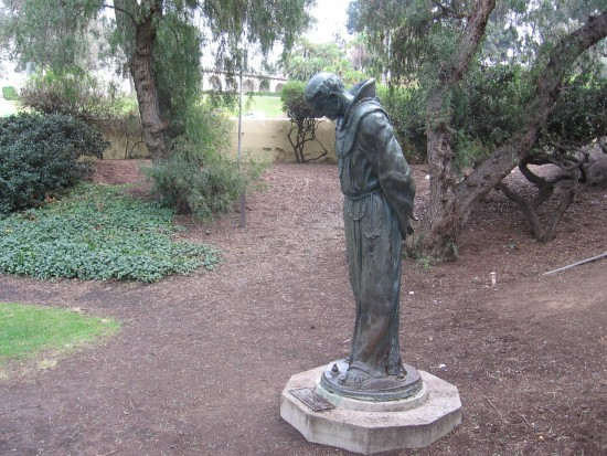Bronze statue titled The Padre by Arthur Putnam.